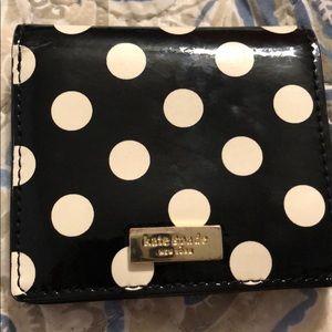 Kate Spade Polka dot mini wallet